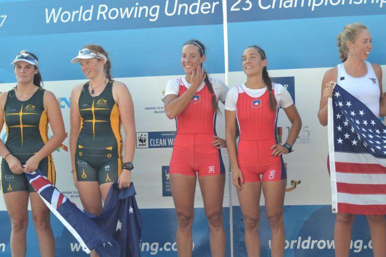 Hermanas Abraham se quedaron con el oro en el Campeonato Mundial de Remo Sub23 de Bulgaria