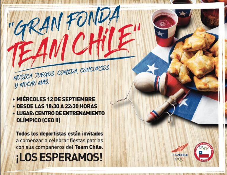 Team Chile invita a gran Fonda para este miercoles