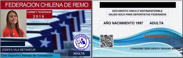 Federación Chilena de Remo crea Nueva Documentación Oficial para deportistas.