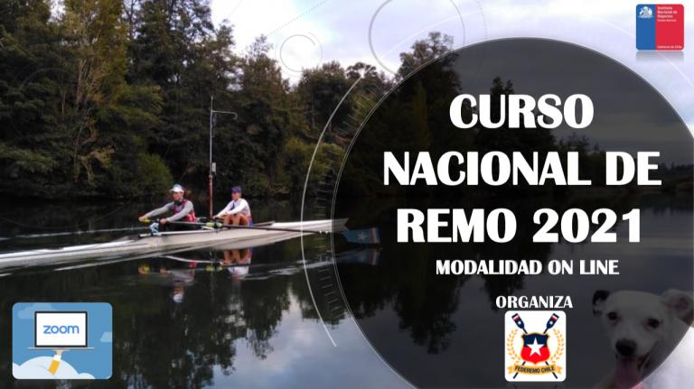 Inició Curso Nacional de Remo en modalidad online.