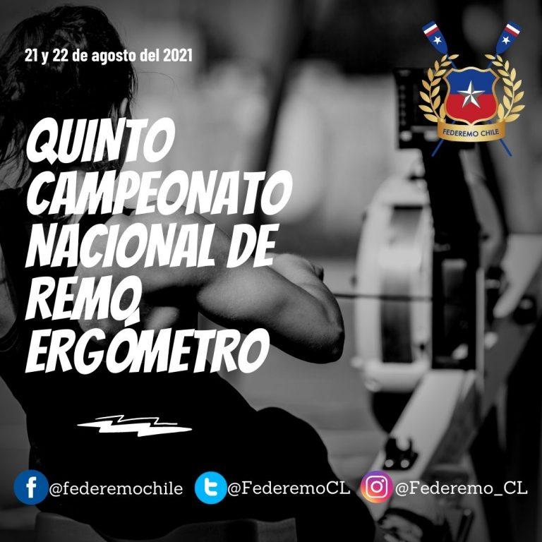De forma telemática este fin de semana se desarrollará el  Campeonato Nacional de Remo Ergómetro
